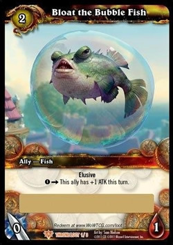 Bloat the Bubble Fish WoW TCG Loot Card