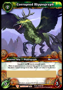 Corrupted Hippogryph WoW TCG Loot Card