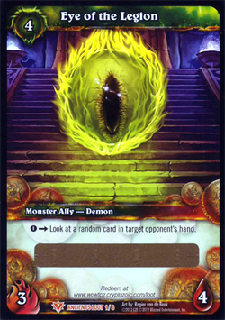 Eye of the Legion WoW TCG Loot Card