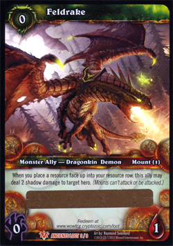 Feldrake WoW TCG Loot Card