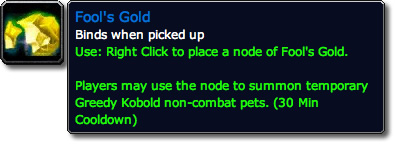 Fool's Gold WoW Loot Tooltip