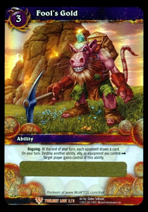 Fool's Gold WoW TCG Loot Card