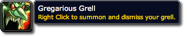Gregarious Grell WoW Loot Tooltip