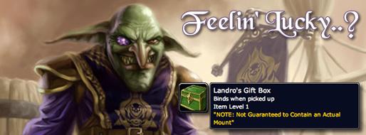 Landro's Gift WoW TCG Loot Card