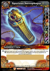 Spurious Sarcophagus WoW TCG Loot Card