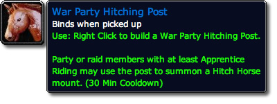War Party Hitching Post Tooltip