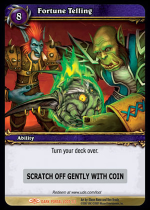 Fortune Telling WoW TCG Loot Card
