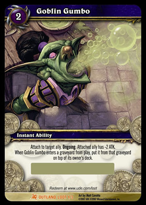 Goblin Gumbo WoW TCG Loot Card