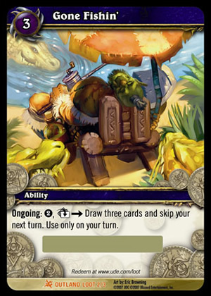 Gone Fishin' WoW TCG Loot Card