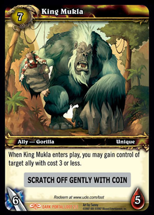 King Mukla WoW TCG Loot Card