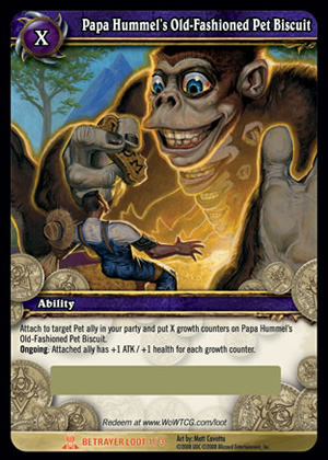 Papa Hummel's Old-Fashioned Pet Biscuit WoW TCG Loot Card