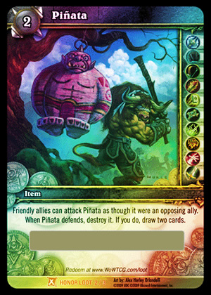 Piñata WoW TCG Loot Card