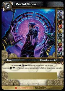 Portal Stone WoW TCG Loot Card
