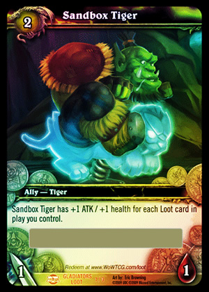 Sandbox Tiger WoW TCG Loot Card
