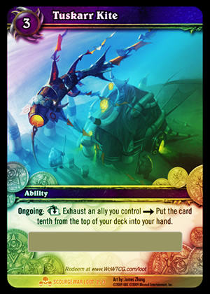 Tuskarr Kite WoW TCG Loot Card