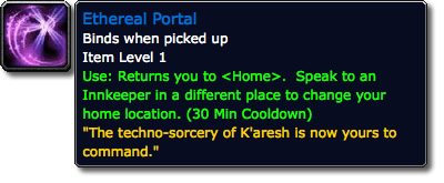 Ethereal Portal WoW Loot