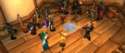 WoW TCG Party Grenade explodes in Stormwind Auction House