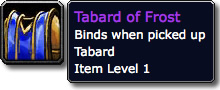 Tabard of Frost