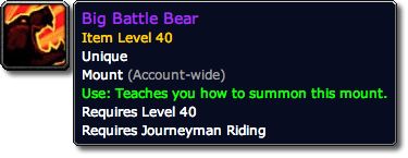 Big Battle Bear Mount Tooltip