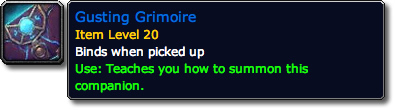 Gusting Grimoire WoW Loot Tooltip
