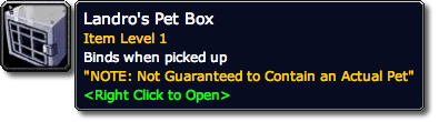 Landro's Pet Box Tooltip