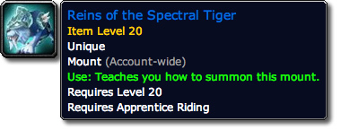 Reins of the Spectral Tiger Tooltip