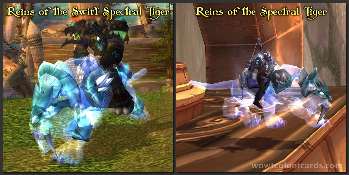 Spectral Tiger Mount Differences