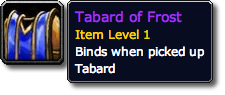 Tabard of Frost Tooltip