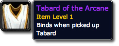 Tabard of the Arcane Tooltip