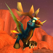 Hippogryph Hatchling Pet from the Thunderhead Hippogryph WoW TCG Loot Card