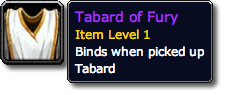 Tabard of Fury Tooltip