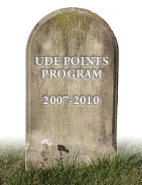 RIP WoW TCG UDE Points Program