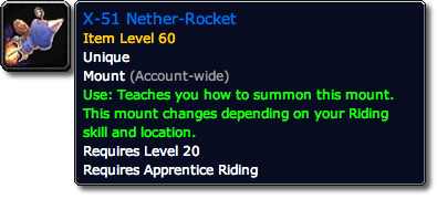 X-51 Nether-Rocket WoW...X 51 Nether Rocket X Treme