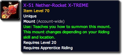 X-51 Nether-Rocket X-TREME Tooltip
