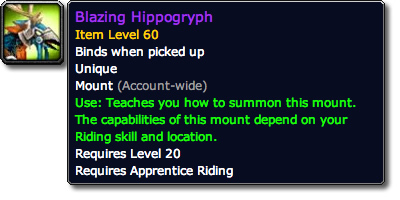 Blazing Hippogryph Tooltip