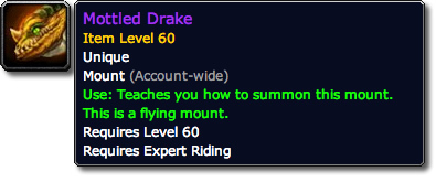 Mottled Drake Tooltip