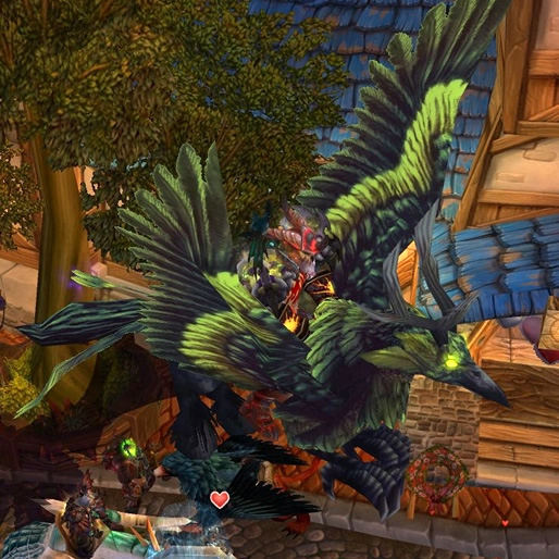 Corrupted Hippogryph WoW Mount