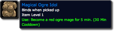 Magical Ogre Idol WoW TCG Loot