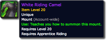 White Riding Camel Tooltip