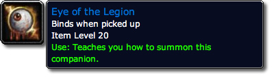 Eye of the Legion Tooltip
