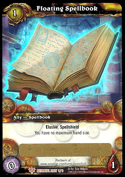 Floating Spellbook WoW TCG Loot Card