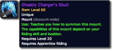 Ghastly Charger's Skull Tooltip