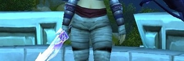 Ethereal Soul-Trader Vendor Armor Set on a Human
